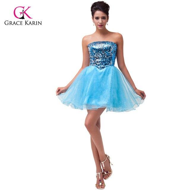 Short Sequin Homecoming Dresses 2015