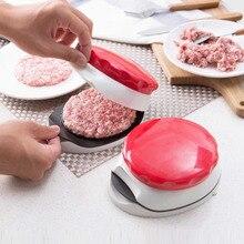 Пресс-формы для гамбургера, мяса, пластиковые круглые ручные котлеты, пресс-форма, идеальная форма, котлет для бургера, съемные кухонные инструменты
