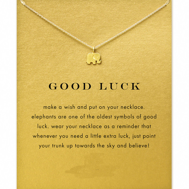 elephant engraved necklace good gift luck name