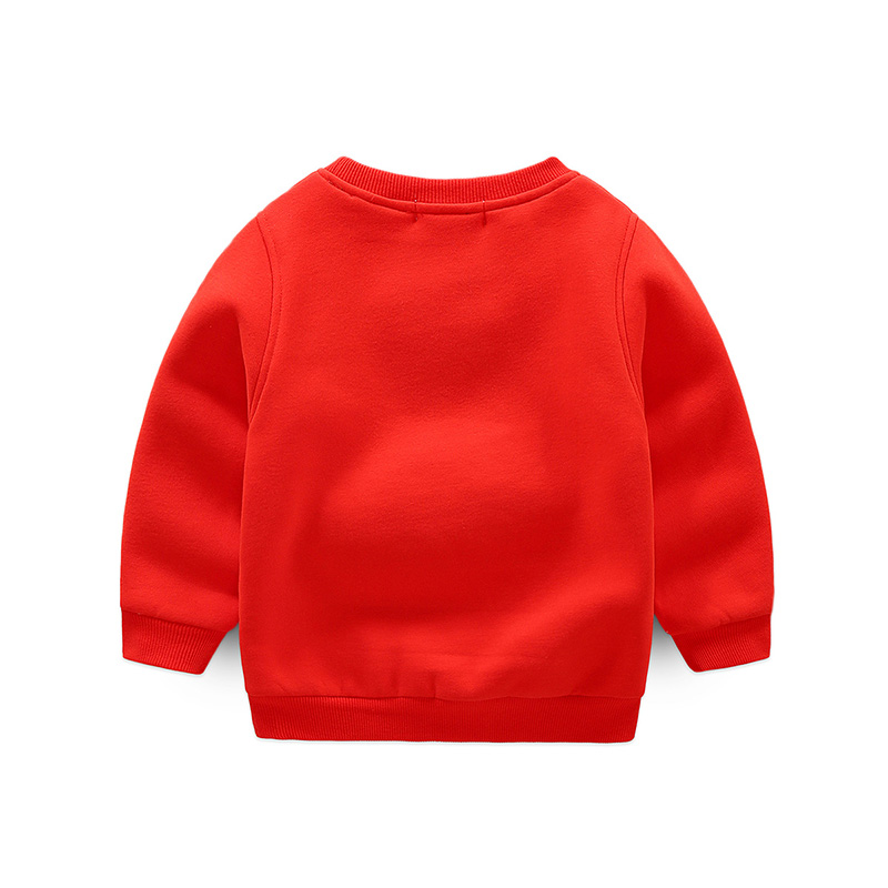 Baby boys new winter warm velvet plus hoodies Children casual printed sweatshirts kids cotton top sportwear WY25067 Christmas