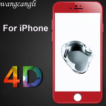 wcangcangli for iphone 7 screen protector full cover 4D( New 3D ) tempered glass film iPhone 8 7Plus edge scree