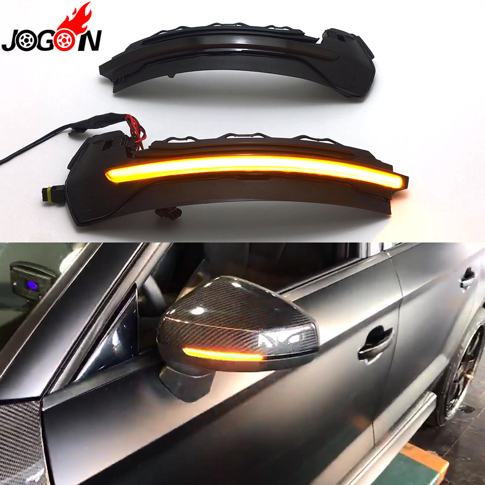 цена на For AUDI A3 S3 8V 2013 2014 2015 2016 2017 Car LED Dynamic Turn Signal Light Side Wing Rearview Mirror Indicator Blinker Lamp