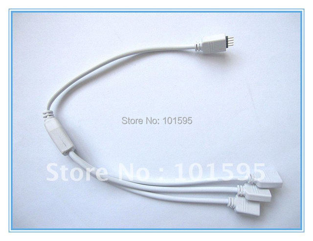 Free Shipping RGB LED Flexible Strip 1 To 3 Female Connector For SMD 3528 5050 RGB Strip light
