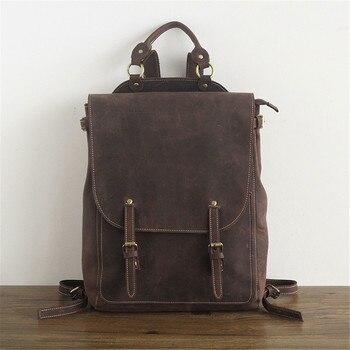 цена на Mini Backpack Women Bag Genuine Leather 15 Inches Laptop Travel Back Pack Shoulder Hand Bag for Teenager Bag Pack Female Mochila