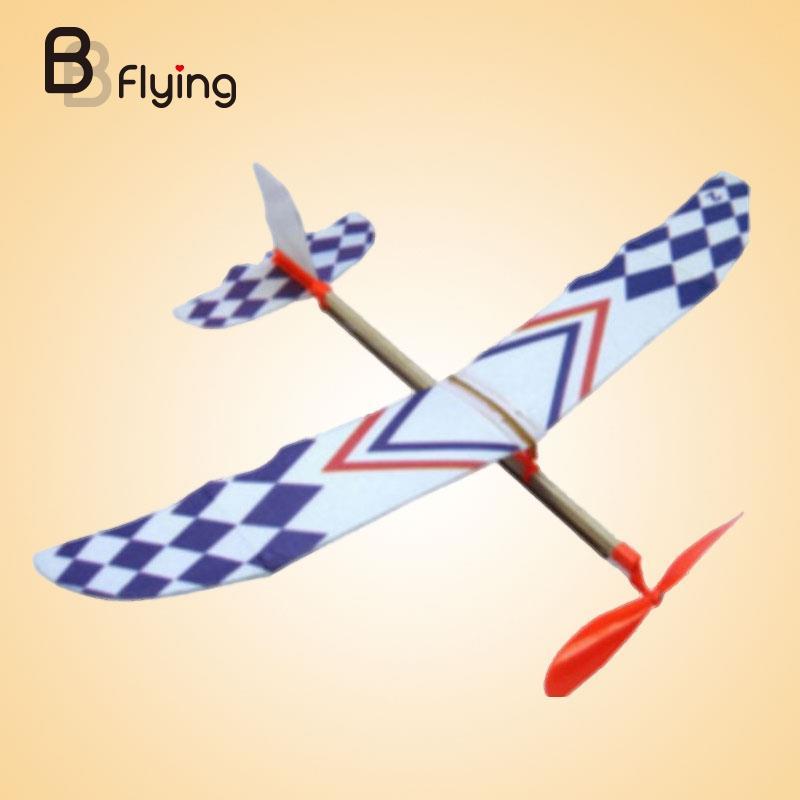 2018 Flying Glider Planes Aeroplane Model Toys Rubber Band Development Childrens Gift Toys For Children Planes Toys Anti-Stress