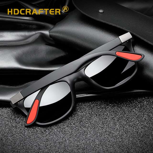 HDCRAFTTER Men Sunglasses Women Polarized Square Retro TR90 Classic Sun Glasses Driving Shades Goggle UV400 Gafas De Sol Mujer