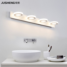 hot deal buy indoor 12w led wall lamps for bathroom wall lighting mirror lights 65cm ac220v/110v home deco acrylic mirror lamps