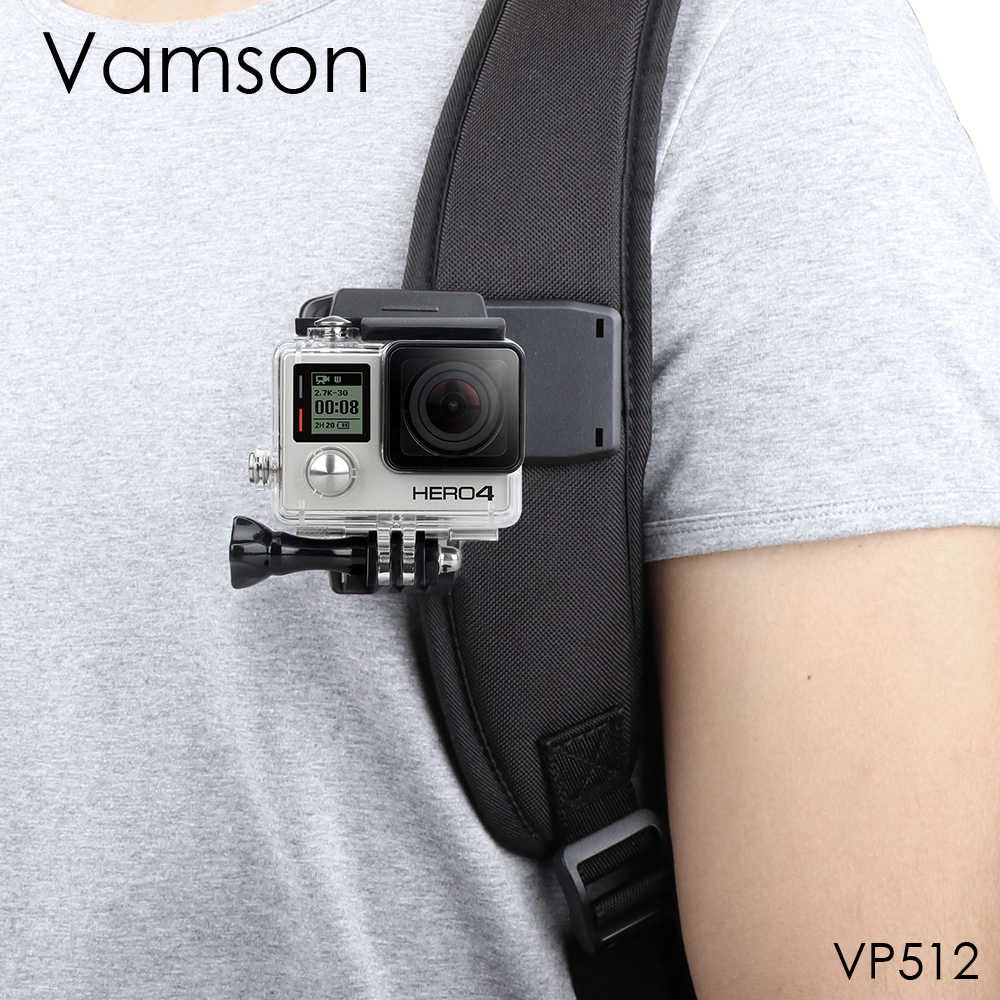 Vamson for GoPro Accessories Backpack Clip Clamp Mount for Go Pro Hero 7 6 5 4 for Yi 4K for SJCAM for EKEN Action Camera