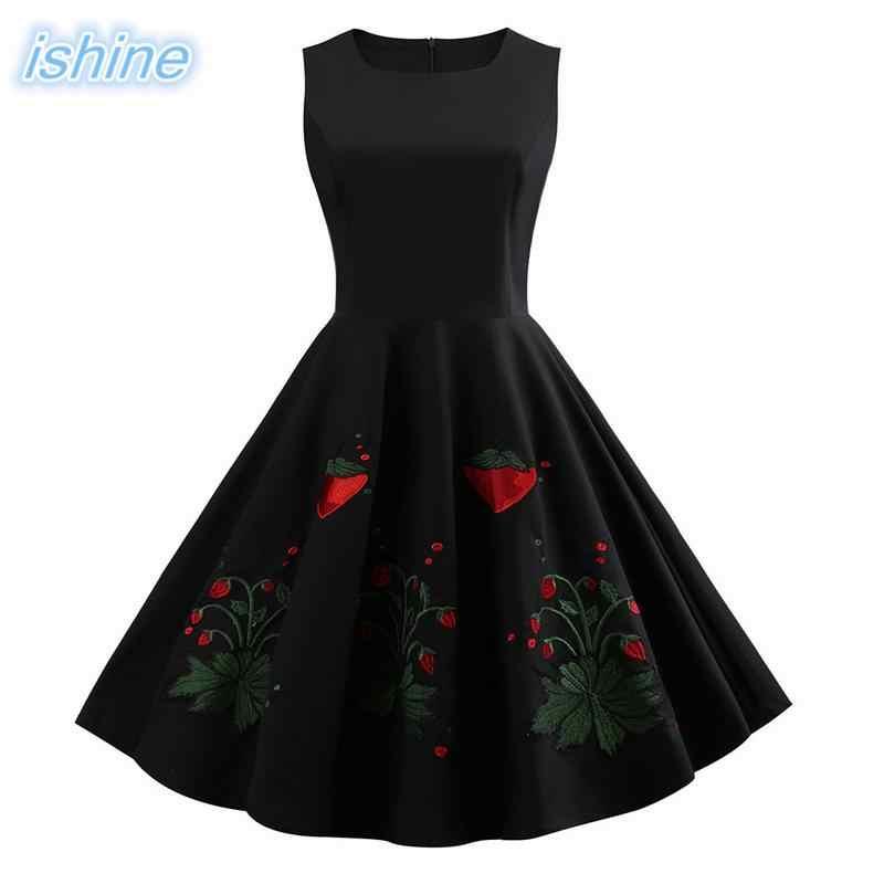 d4902c67947 S-3XL Women Retro Dress 2018 Vintage 50s 60s Rockabilly Swing Party Dress  Female Elegant