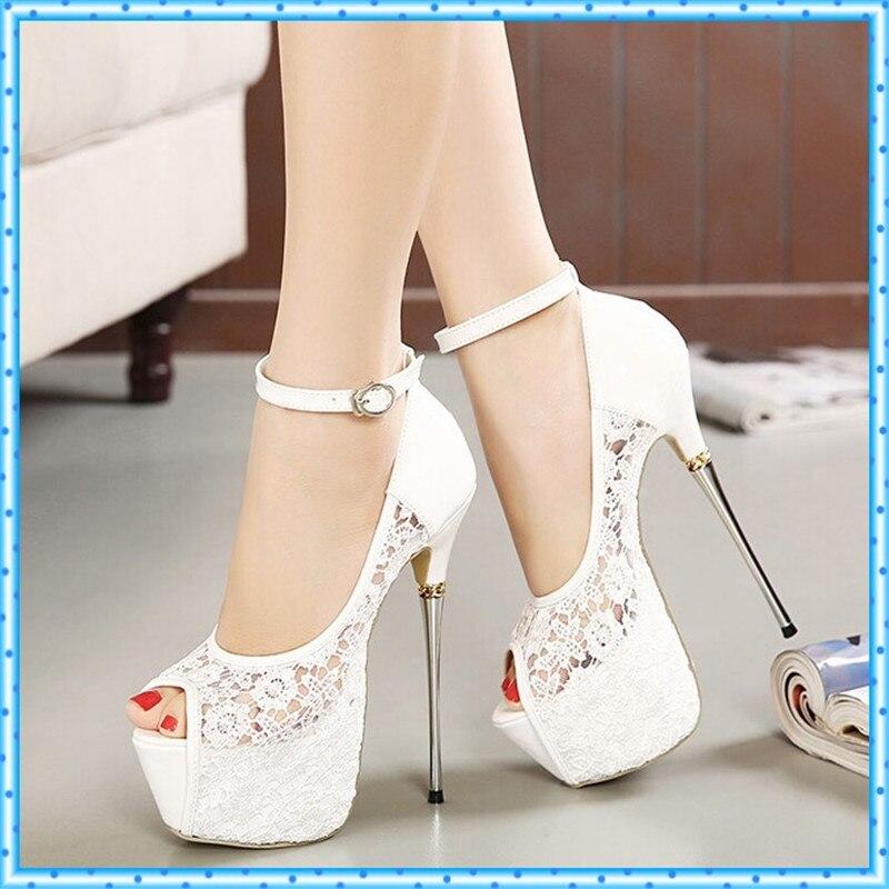 Popular White Stiletto Pumps-Buy Cheap White Stiletto Pumps lots ...