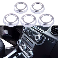 CITALL 5pcs Dashboard Console Switch Button Ring Cover Trim fit for Land Rover Discovery 4 LR4 Range Rover Sport 2010 2011 2012
