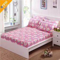 Fitted Sheet Cotton Queen/King Size Plant Printed Bed Sheet Holder 100 cotton Luxury Bed Linen 1pc Home Textile Free shipping