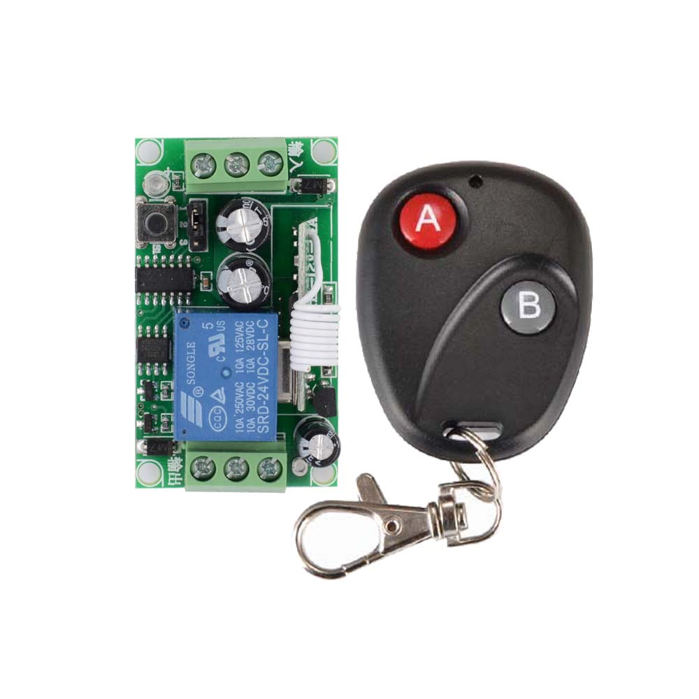 Dc 24v 1ch Remote Control Switch 10a Relay Switching Wireless Board No Nc Controller Com Button On Off Switches 315 433 Ask