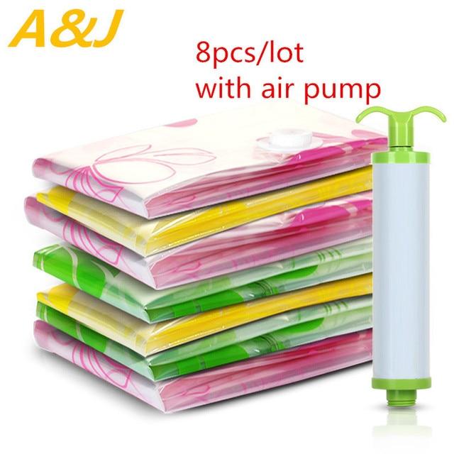 New 8pcs/lot Vacuum Storage Bag Set with Air Pump SMLThickness  sc 1 st  AliExpress.com & New 8pcs/lot Vacuum Storage Bag Set with Air Pump SMLThickness ...