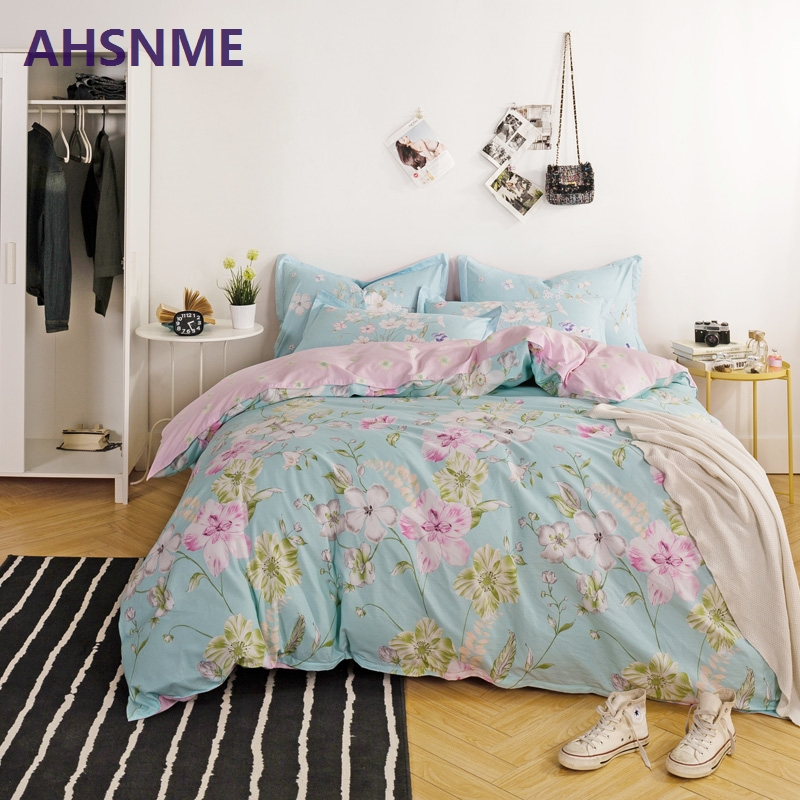 AHSNME 100% Cotton Bedding Items Europe Russia Australia United States size peach pink cherry blossoms plum style duvet coverAHSNME 100% Cotton Bedding Items Europe Russia Australia United States size peach pink cherry blossoms plum style duvet cover