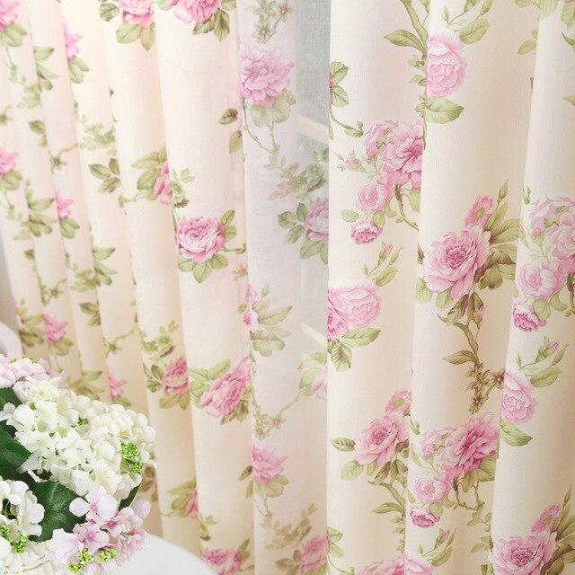 Azul púrpura romántico jardín Cortina de tela cortinas para living