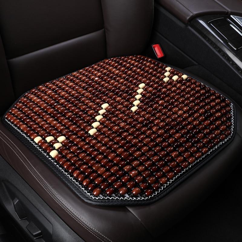 car seat cover wooden bead massage front car seat cushion for kia hyundai volvo lada kalina granta priora renault logan