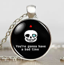 Undertale Sans Bad Time Game Gaming Handmade Fashion Necklace brass silver Pendant steampunk Jewelry women new chain toy mens us