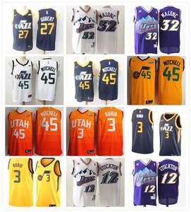 2b113a08f Utah Rudy Gobert Ricky Rubio Donovan Mitchell Karl Malone John Stockton  basketball jerseys for men