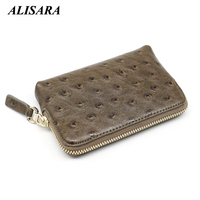Coin Purses Genuine Leather Women Small Zipper Purses Cowhide High Quality Mini Wallet Credit Coin Purse Coin Pouch Key Wallets