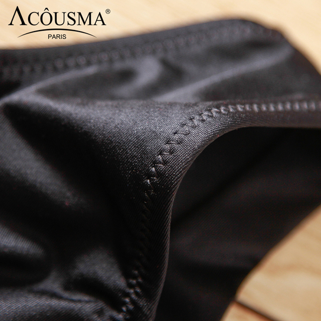 ACOUSMA Women G-String Hollow Out Lace Sexy T Back Thongs Panty Underwear Seamless Breathable Farbic Low Waist 8 Colors Optional 3