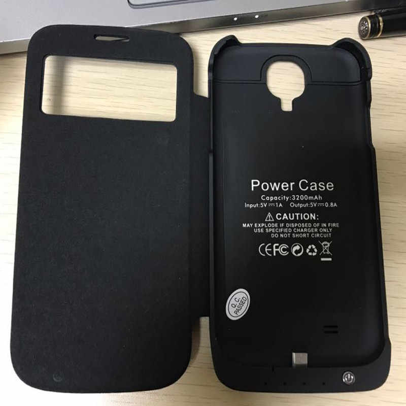 3200mAh Rechargeable External Battery Charger Case Cover Pack Power Bank  for samsung Galaxy S4 i9500
