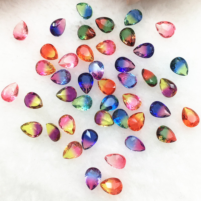 265 x 4mm self adhesive gems crystals in opal blue
