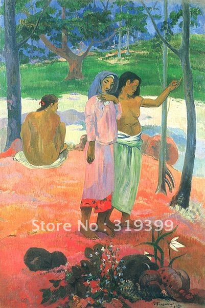Landscape Oil Painting Reproduction,The Call by paul gauguin,Free Shipping,100% handmade on linen canvas,museum qualityLandscape Oil Painting Reproduction,The Call by paul gauguin,Free Shipping,100% handmade on linen canvas,museum quality