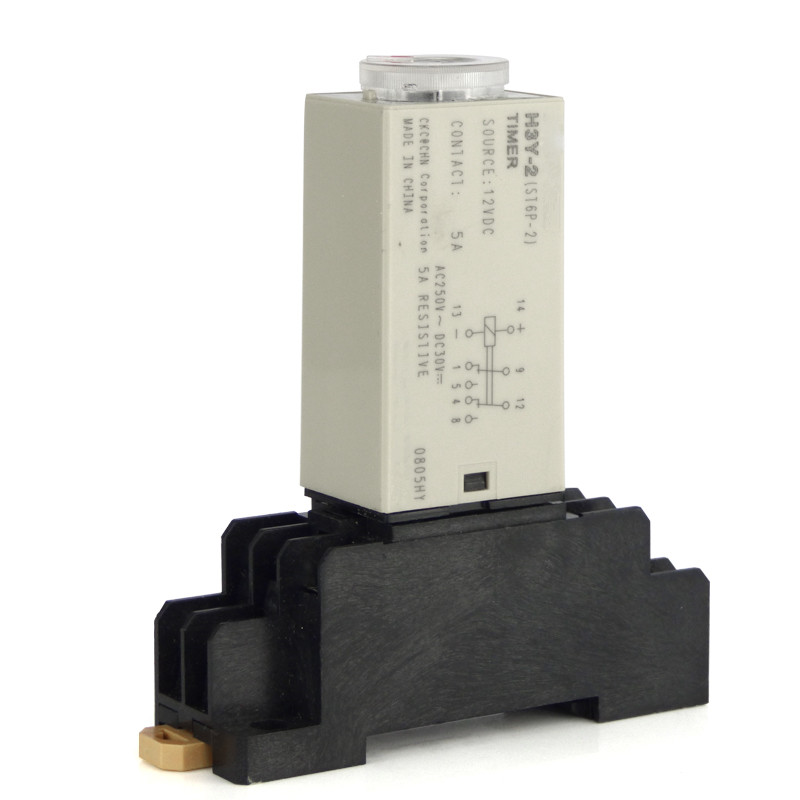 H3Y-2 Power On Time Delay Relay Timer 1 second  DPDT 8Pins&Socket 220vac 110vac 24vac 12vac 24vdc 12vdc power on delay timer time relay 0 30 second ah3 3
