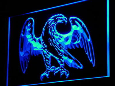 i861 Eagle American Bar Beer Display Decor Neon Light Sign On/Off Swtich 20+ Colors 5 Sizes