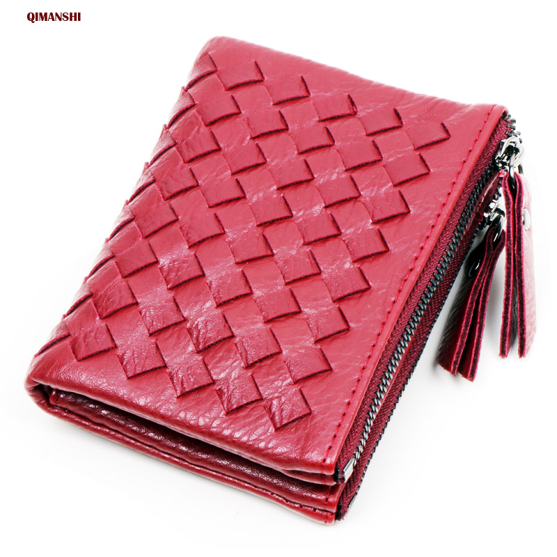Women Wallet  ID Card Holder PU Leather Short Money Wallets PU Leather Lady Double Zipper Coin Purse Wallet For Women