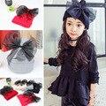 Tapas versión Coreana del nuevo invierno cálido bebé infantil niñas cobertura sombrero de lana de punto gorros casquillo del oído de la mariposa grande headwear