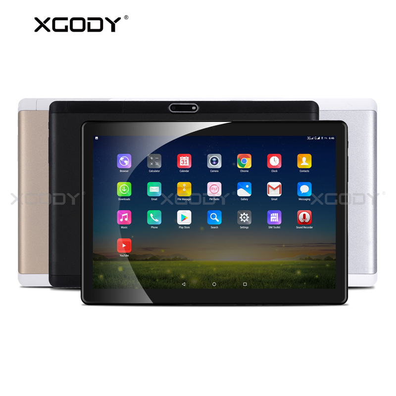 XGODY T1004 4G LTE téléphone appel tablette PC 10.1 pouces Android 7.0 2 GB 32 GB MTK6753 Octa Core tablettes OTG GPS WiFi 5MP caméra Phablet