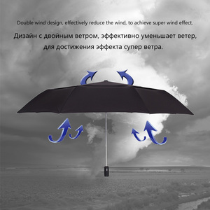 Image 5 - Starke Wind Widerstand 125cm Große Automatische Regenschirm Männer Doppel Schicht 3 Folding Paraguas Golf Regenschirm Regen Frauen Reise Sonnenschirm