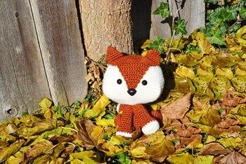 Amigurumi Crochet Mini Fox Pattern by Little Bear Crochets | 233x350