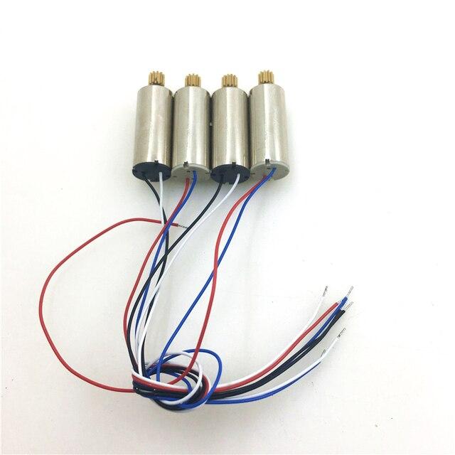 Moteur 4 pièces/ensemble pour moteur quadrirotor Hubsan X4 H502S H502E RC avec accessoires de pièces de rechange pour engrenages métalliques