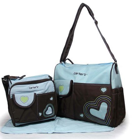 4pcs Carter S Cute Baby Changing Diaper Ny Bag Shoulder Handbag Blue Brown Women