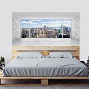 Image 4 - مدينة بناء المشهد جدار ملصقا السرير رئيس ملصقات الحائط ملصقا ل المسكن غرفة نوم ديكور المنزل