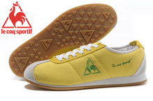Le Coq Sportif Men's Running Shoes,High Quality Embroidery Logo Le Coq Sportif Men's Athletic Shoes Sneakers Yellow Color 4