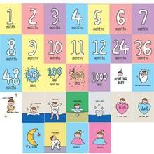 32 шт/компл месячная карточка детская ежемесячная новорожденная