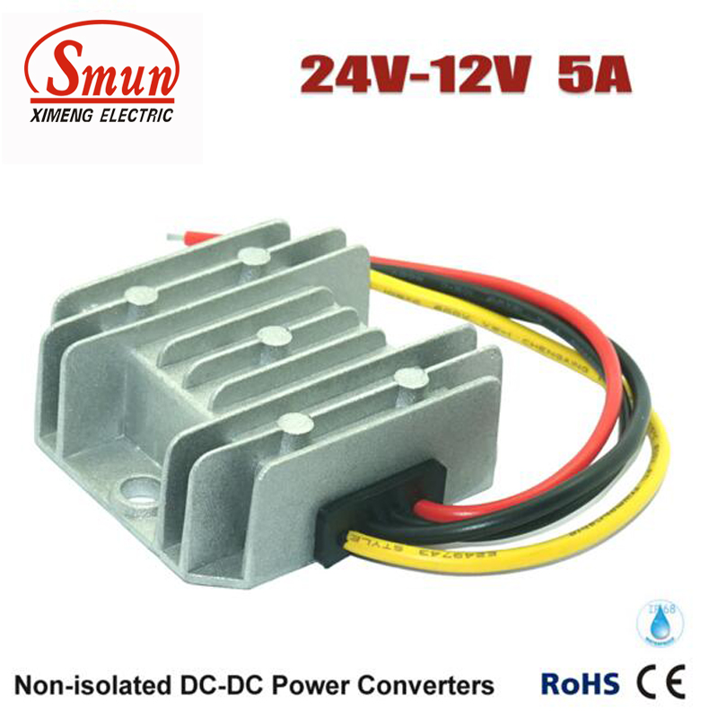 Buck Module DC DC Converter 24V to 12V 5A 60W Car Power Supply dc dc lm2596 adjustable power buck module 24v to 48v 12v 24v turn 12v 5v
