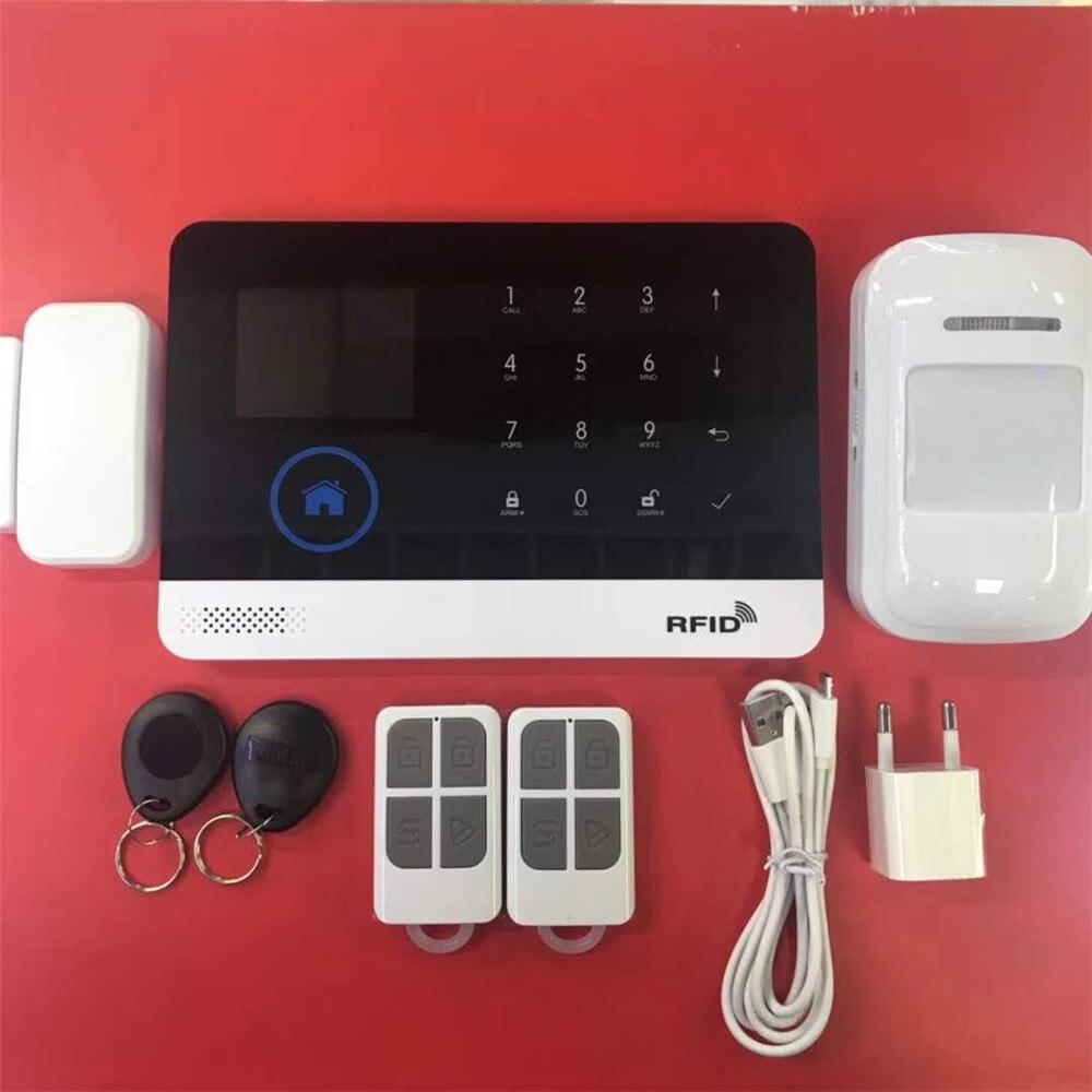 Multi-Language Wireless WIFI / GSM Home Burglar Security GSM Alarm System APP Remote Control цена
