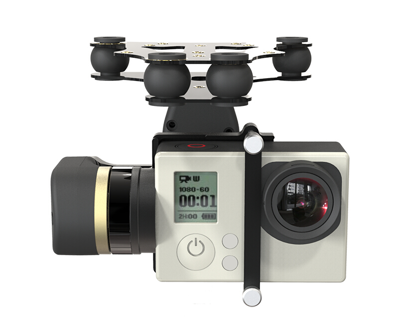 free shipping Feiyu Tech FY MiNi 2D 2-Axis Brushless Gimbal For Gopro4 Gopro3+ Gopro3 Sport Camera/ free shipping free shipping feiyu tech g4 gs gimbal 3 axis brushless gimbal for sony hdr az1vr fdr x1000v as series sport auction camera