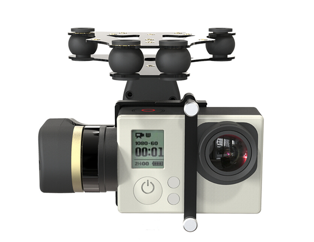 free shipping Feiyu Tech FY MiNi 2D 2-Axis Brushless Gimbal For Gopro4 Gopro3+ Gopro3 Sport Camera/ free shipping