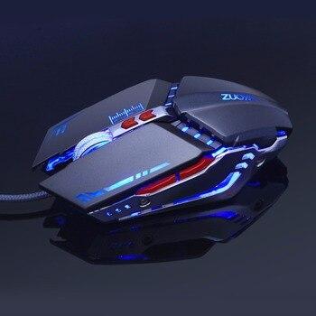 Ratón de juego Ajustable 3200 DPI 6 botones óptico de alta calidad con cable USB ratón de juego Gamer 4 colores Luz de respiración