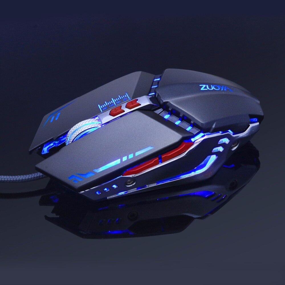 Souris de jeu Ajustable 3200 DPI 6 boutons optique haute qualité USB filaire souris de jeu Gamer 4 couleurs respiration lumière
