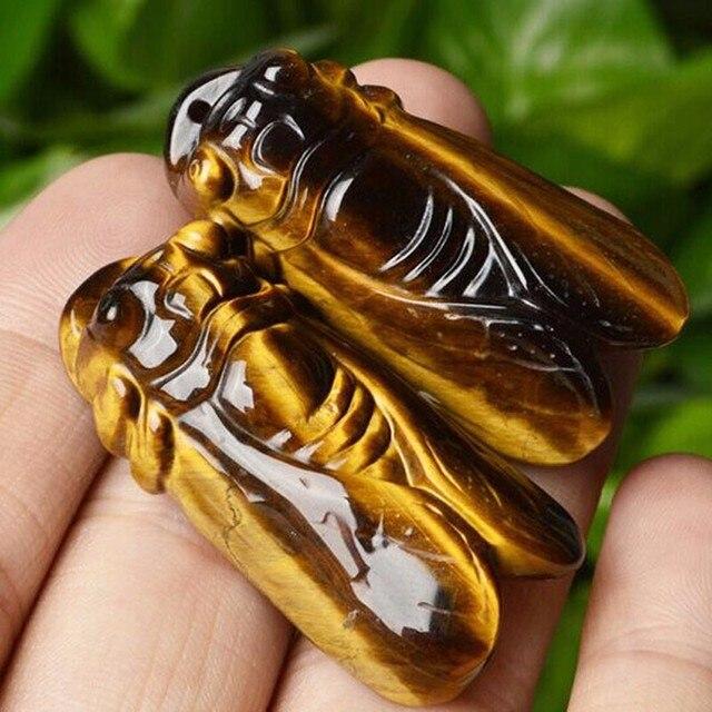 KYSZDL אבן עין נמר טבעי צרצר שובר קופות תליון תכשיטי מתנת אוהבים של להביא מזל