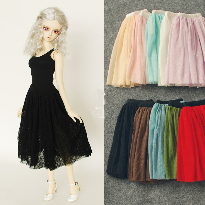 Lace Long Skirt Multicolors for BJD Doll Girl 1/4 MSD,1/3 SD10/13, SD16 LUTS.AS.DZ. Doll Clothes CWB78 new bjd doll jeans lace dress for bjd doll 1 6yosd 1 4 msd 1 3 sd10 sd13 sd16 ip eid luts dod sd doll clothes cwb21