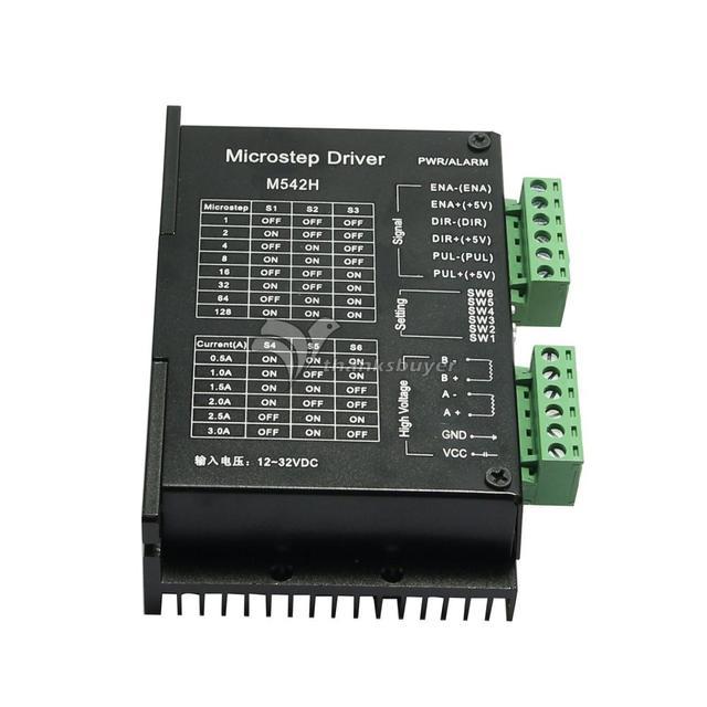 3А ЧПУ M542H Шагового Драйвера Контроллера 2 Фазы 128 Microstep Подразделение для 42 57 Двигателя