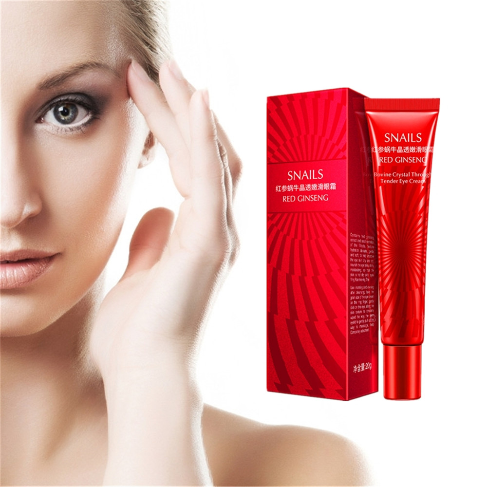 DISAAR Snail Red ginseng Essence Eye Cream Prevent Skin loose Dark Circles Remove Bags Drops Lifting image